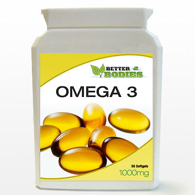 OMEGA-3 FISH OIL 1000mg 50 CAPSULES SOFT GELS BOTTLE