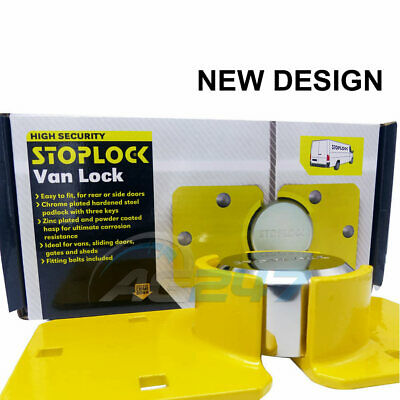 Stoplock Yellow High Security Anti Theft Van Door Lock Hasps Padlock & 3 Keys