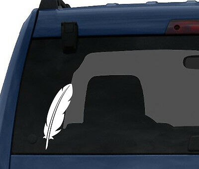 Feather #1 - Calligraphy Ink Writing Quill Scribe - Car Tablet Vinyl Decal