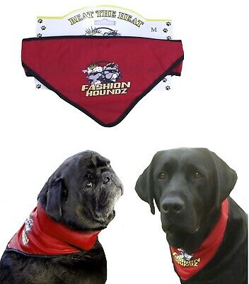 Dog Cooling Bandana Collar S M  L - Pet Puppy Clothing Clothes Cool Neck Band