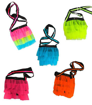 Brand New Fun And Funky Neon UV Tutu Shoulder Bag Clubbing Raves Party Night Out
