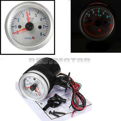 "2"" 52mm Car Rev Counter Tacho Tachometer Pointer Gauge Meter 0-8000 RPM Amber"