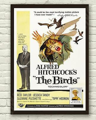 Vintage Alfred Hitchcocks The Birds  Movie Film Poster Print Picture A3 A4 #2