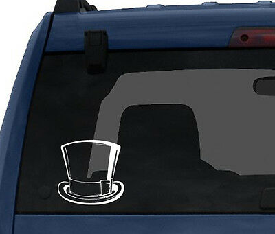 Top Hat - 18th 19th Century Vintage Gentlemans Attire - Car Tablet Vinyl Decal
