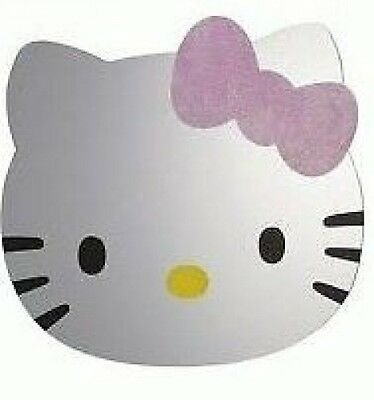 Hello Kitty Head Safety Wall  Mirror Bedroom Self Adhesive Approx 30 x 35 cm