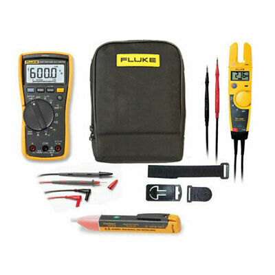 Fluke 117 True RMS Multimeter KITN + T5-1000 Voltage Tester + TPAK3 + 1AC + Case