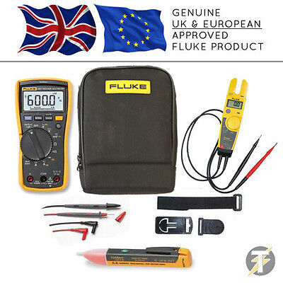 Fluke 117 True RMS Multimeter KITO + T5-600 Voltage Tester + TPAK3 + 1AC + Case