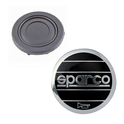 Sparco Steering Wheel Horn Button BLACK, fits OMP FREE DELIVERY