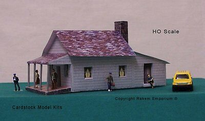 HO Scale House With Optional Rebate Windows & Doors Model Building Kit - REHV1