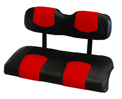 Club Car DS '00-Up Golf Cart Vinyl Deluxe™ Seat Covers-Staple On(Blk/Drdvl)