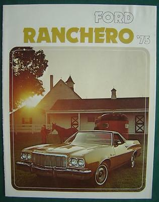 1975 Ford Ranchero Squire 500 Gt Automobile Car Auto Sales Pamphlet Brochure