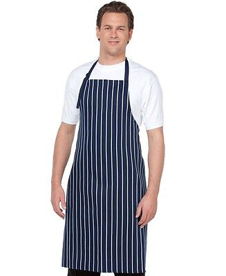 Striped Aprons no pocket Bib Style for Cafes Bars Clubs Restaurants Butchers