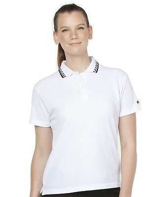Ladies Chef Polo Size 8 - 22 Restaurant Bar Hotels Clubs Uniform Prep to Service