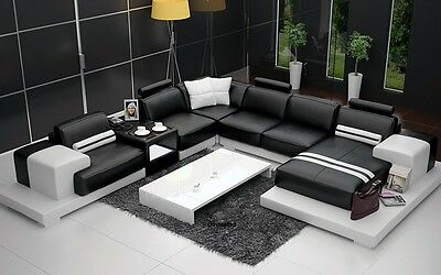 Awesome Modern Large Leather Corner Sofa Suite New Stylish Unique Lamtechconsult Wood Chair Design Ideas Lamtechconsultcom