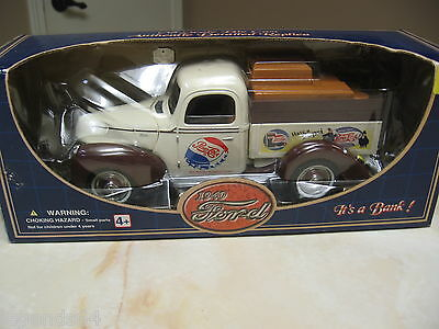 Pepsi Cola 1:18 Scale 1940 Ford Pickup Die Cast Bank - Nib