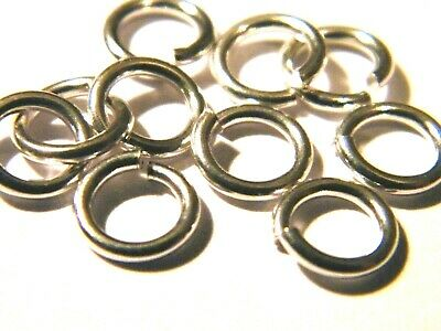 5x-8mm Solid Sterling Silver Jump Rings Heavy-Open-Findings for Chain Links.925