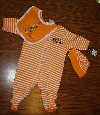 Halloween 3 Piece Baby Coverall Set – 3 Months – Brand New