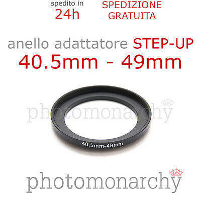 Anello STEP-UP adattatore da 40.5mm a 49mm filtro - STEP UP adapter ring 40.5 49