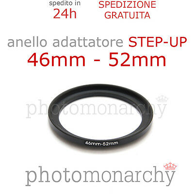 Anello STEP-UP adattatore da 46mm a 52mm filtro - STEP UP adapter ring 46 52 mm