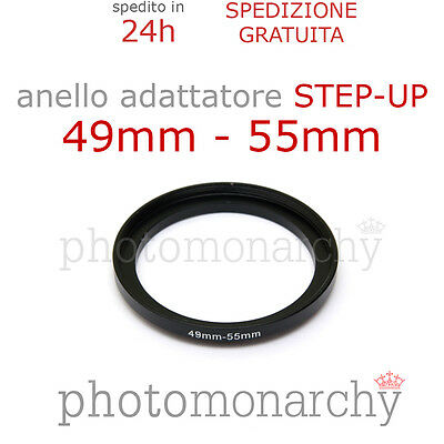Anello STEP-UP adattatore da 49mm a 55mm filtro - STEP UP adapter ring 49 55 mm