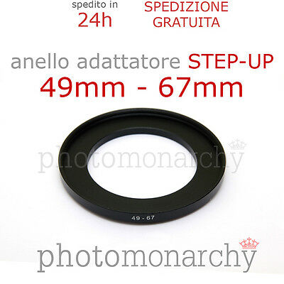 Anello STEP-UP adattatore da 49mm a 67mm filtro - STEP UP adapter ring 49 67 mm