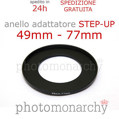Anello STEP-UP adattatore da 49mm a 77mm filtro - STEP UP adapter ring 49 77 mm