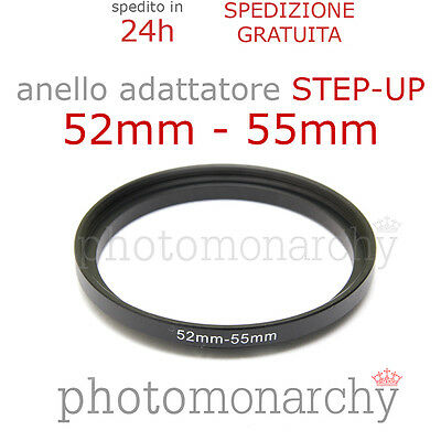 Anello STEP-UP adattatore da 52mm a 55mm filtro - STEP UP adapter ring 52 55 mm