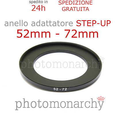 Anello STEP-UP adattatore da 52mm a 72mm filtro - STEP UP adapter ring 52 72 mm
