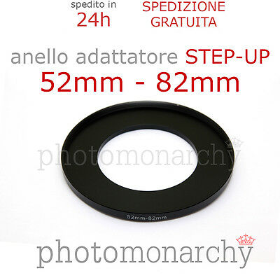 Anello STEP-UP adattatore da 52mm a 82mm filtro - STEP UP adapter ring 52 82 mm