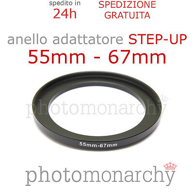 Anello STEP-UP adattatore da 55mm a 67mm filtro - STEP UP adapter ring 55 67 mm