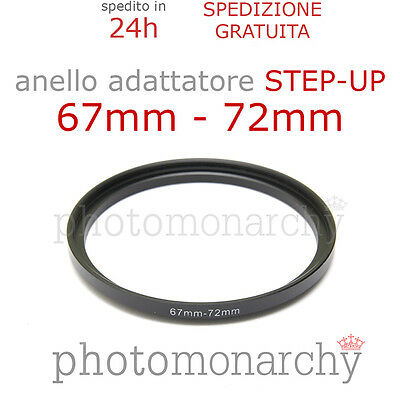 Anello STEP-UP adattatore da 67mm a 72mm filtro - STEP UP adapter ring 67 72 mm