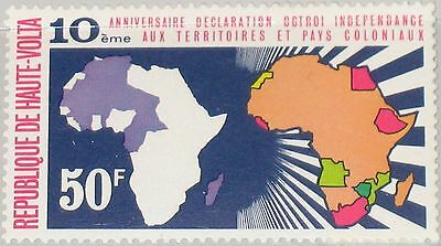 UPPER VOLTA OBERVOLTA 1971 323 235 10th Ann Declaration Independence Colonies **