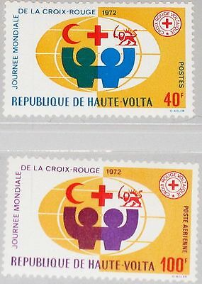 UPPER VOLTA OBERVOLTA 1972 369-70 271 C105 World Red Cross Day Rotes Kreuz MNH
