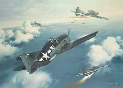 "/""Number 20 for Joe/"" Roy Grinnell Print signed by WW II Ace Captain Joe Foss"