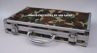 Wholesale lot-10 Deluxe Camo Aluminum Case Pro Gun Cleaning Kits W/BRASS Rods
