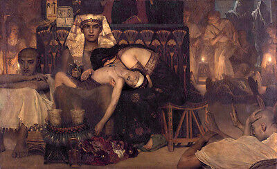 Oil painting Lawrence Alma-Tadema - The death of the firstborn of Pharaoh canvas