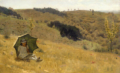 Art Oil painting Lawrence Alma-Tadema - Good weather nice little girl in view