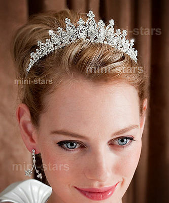 Bridal Wedding Sparkling Tiara Prom Accessories use Swarovski Crystal AT1494