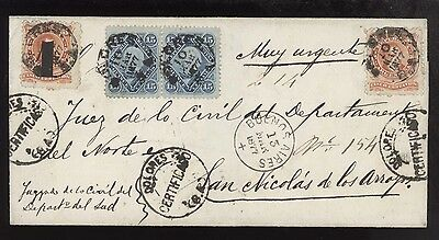 Folded Registered Ls Dated Dolores 10 Mar 77 Very Attractive Franking