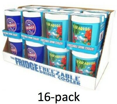 16 pack The Fridge Freezable Drink Beverage Coca Cola Cooler can Koozie Lifoam
