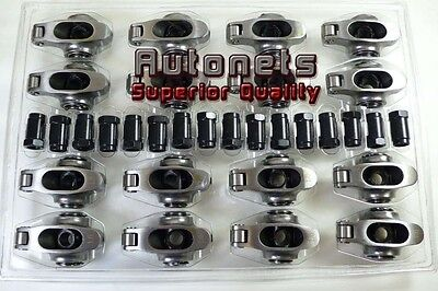 Chevy Small Block SBC Stainless Steel Roller Rockers 1.6 3/8 Hot Rat Rod SS
