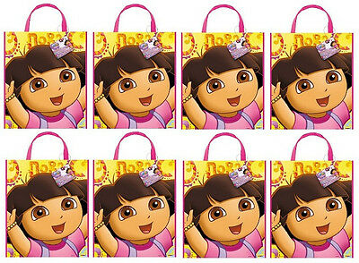 """DORA the Explorer ~ Plastic Birthday Party Favor Tote Bags 13""""x11""""  ~ You Pick ~"""