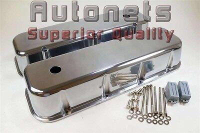 Polish Cast Aluminum BBC Big Block Chevy Palin Tall Valve Cover without No Hole