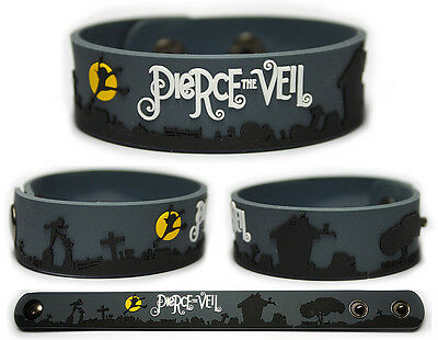 PIERCE THE VEIL Rubber Bracelet Wristband  A Flair for the Dramatic New
