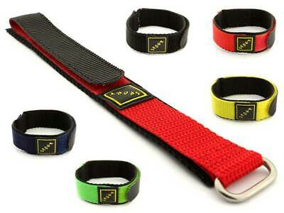 Wrap-Around Velcro Nylon Watch Strap Band Men's Women's Sport Spring Bars