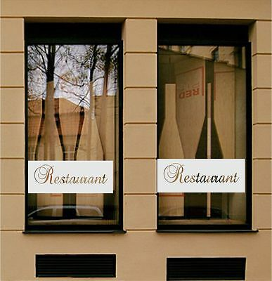 RESTAURANT, Business Shop Advertising Sign Frosted Etched Window Decal/Sticker