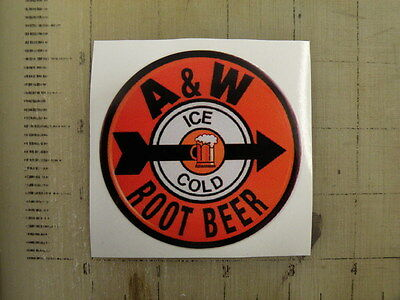 "Vintage A&W sticker decal 3"" diameter"