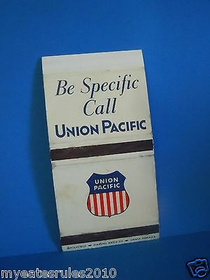 Union Pacific Be Pacific Call Union Pacific Matchbook Cover