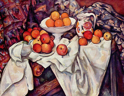 Oil painting Paul Cézanne - Still Life with Apples and Oranges on table