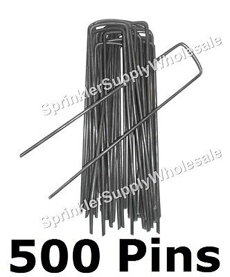 "500 DeWitt Anchor Pins G-APB5 6""x1"" Sod Staples Frost Cloth Weed Mat etc. PK500"
